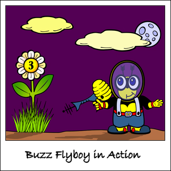 Buzz Flyboy in Action